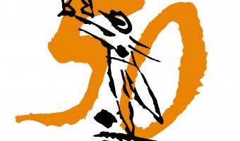 Logo Nero su Bianco Icona 50esimo
