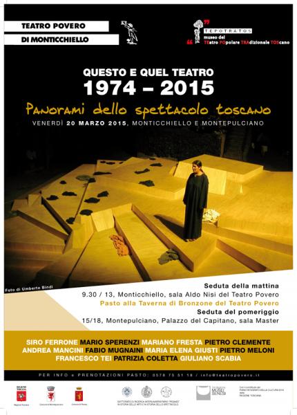 QUESTO E QUEL TEATRO 1974 - 2015, panorami dello spettacolo toscano Locandina