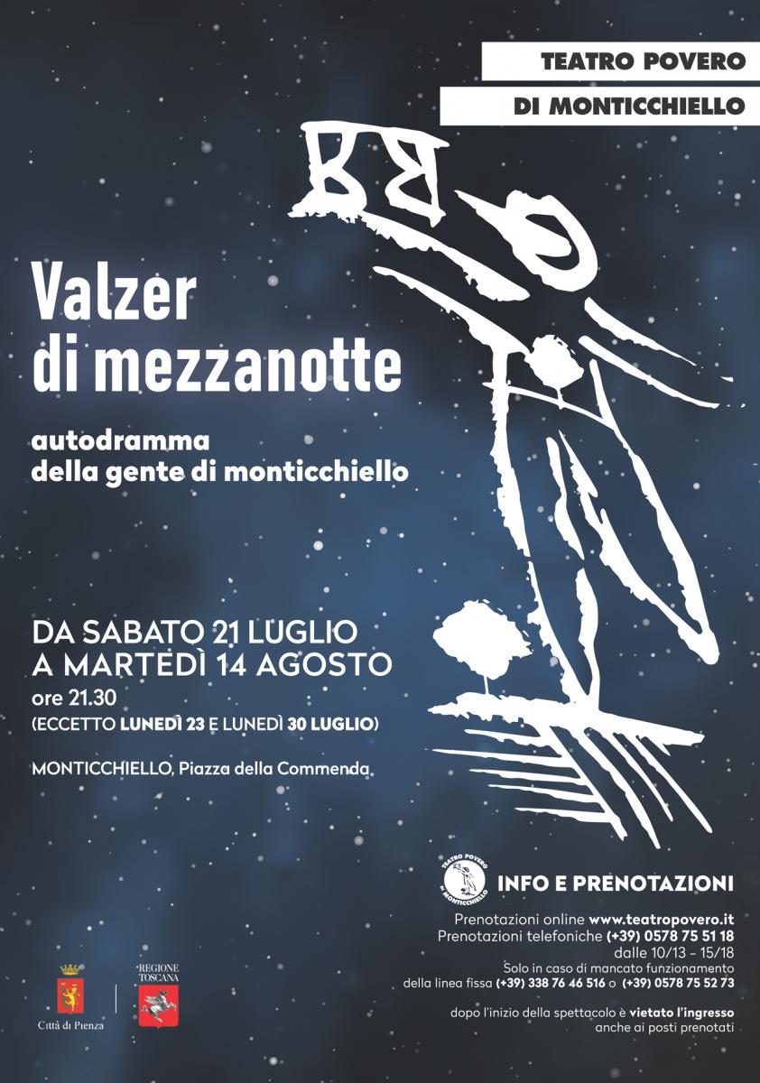 Manifesto Valzer di mezzanotte - autodramma 2018