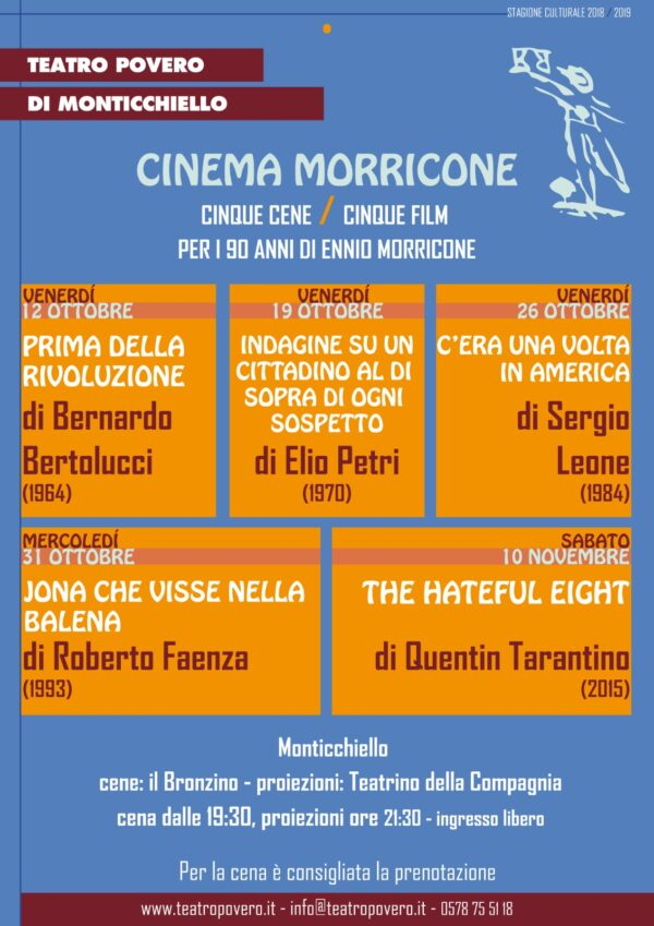 TEATRO POVERO MONTICCHIELLO Cinema Morricone